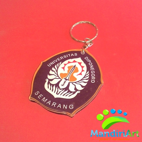 Souvenir Gantungan Kunci Akrilik Logo Undip